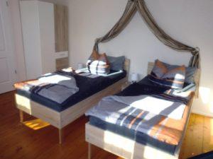 getrennte Einzelbetten in Ferienwohnung Villa Schubert in Weimar