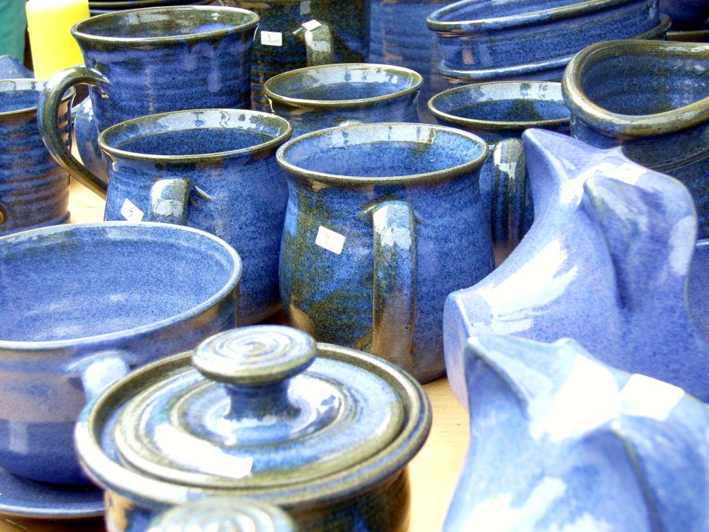 Keramik auf dem Töpfermarkt Weimar