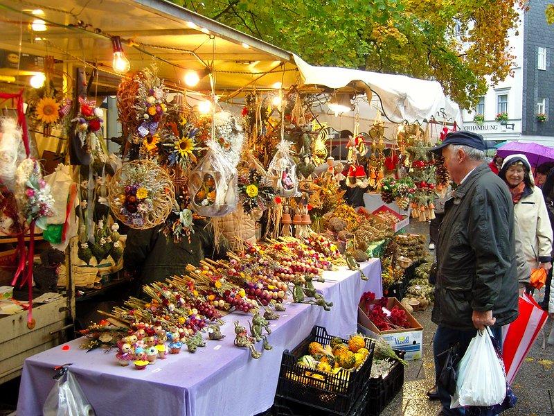 Weimarer Zwiebelmarkt - Verkaufsstand | Ausflugsziele Weimar